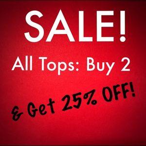 SALE! Buy 2 Tops & Get 25% Off Both! Ho, Ho, Ho!